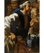 "Matthias Stom, Stomer (1600-1652), ""Christ Driving the Money Changers from the Temple"""
