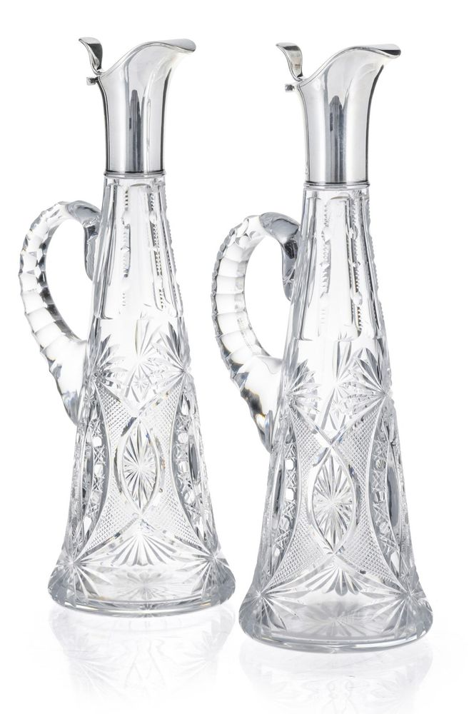 Two carafes, Julius Rappoport for Fabergé