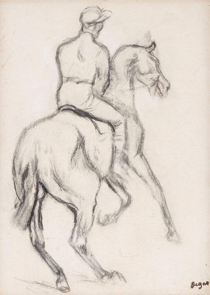 Jockey à cheval. Edgar Degas