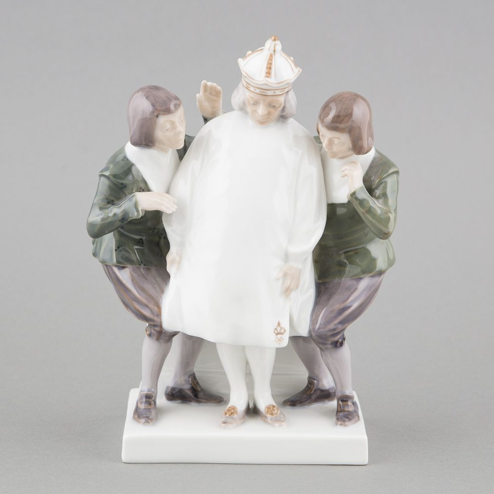 Porcelain figurine, Emperors new clothes (H.C. Andersen)