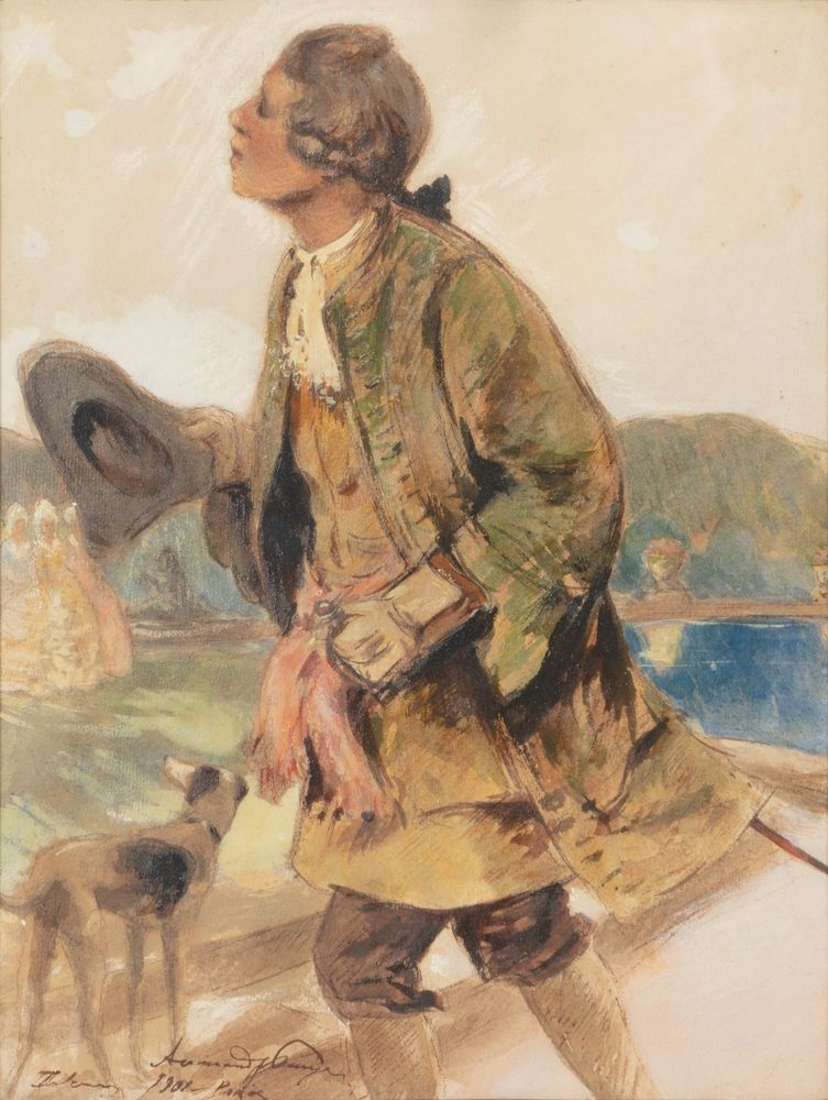 Alexandre Benois. A sketch of an early XVIII century Russian infantry officer.