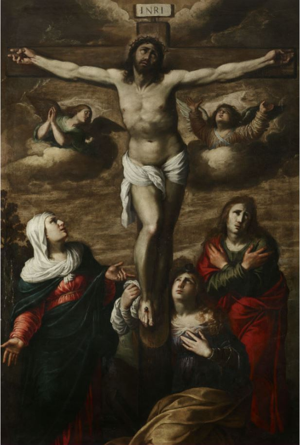 Annibale Carracci. Christ on the Cross with St. John and the Two Maries