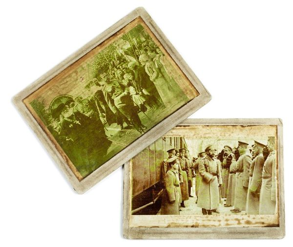 Two photogrpaphs mounted on board featuring Nicholas II.