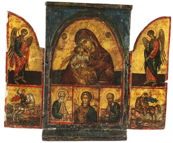 Tryptich icon. Russia, 18th century.