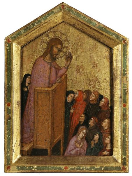 "Jacopo di Cione (ca. 1325 Florence - ca. 1398).  ""The Sermon of Saint Jacob the Elder"""