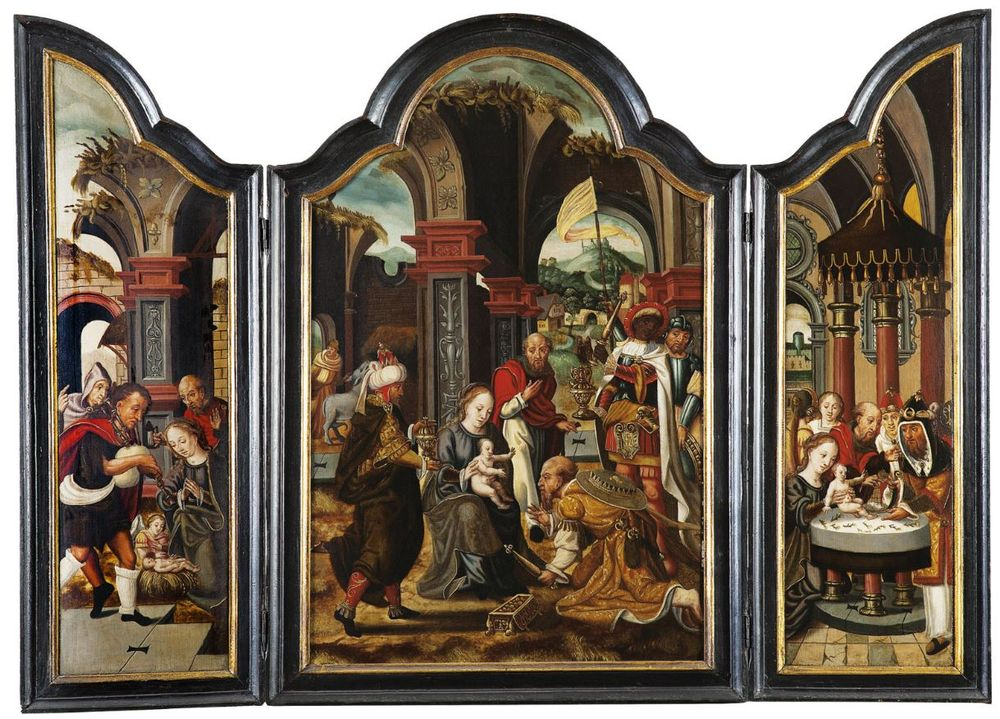 "Pieter Coecke van Aelst (1502, Aalst – 1550, Brussels). ""The Adoration of the Three Magi"""
