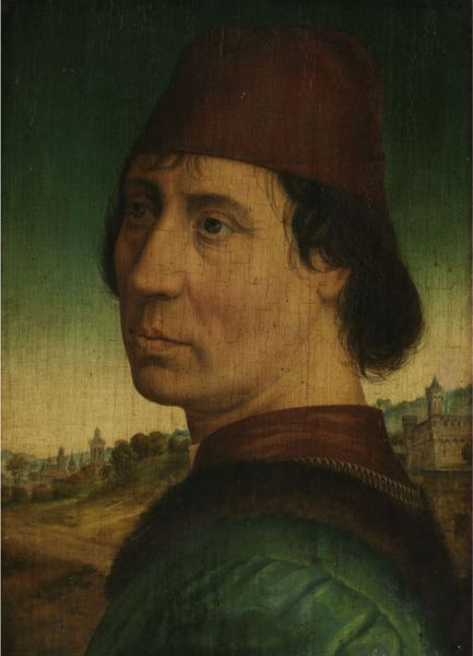"Hans Memling (ca. 1433 Seligenstadt – 1494 Brugge), attributed. ""Portrait of a Young Man with Cap"""