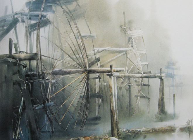 """Water Organ"", watercolour, Liu Yi"