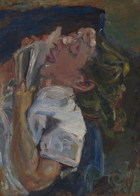Chaim Soutine. La liseuse endormie, Madeleine Castaing. Oil on canvas, 57 by 41.5 cm. c. 1937