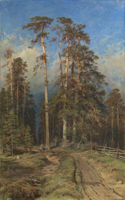 Ivan Shishkin. Pine Forest. Yelabuga. Oil on canvas, 147 by 91 cm. 1897