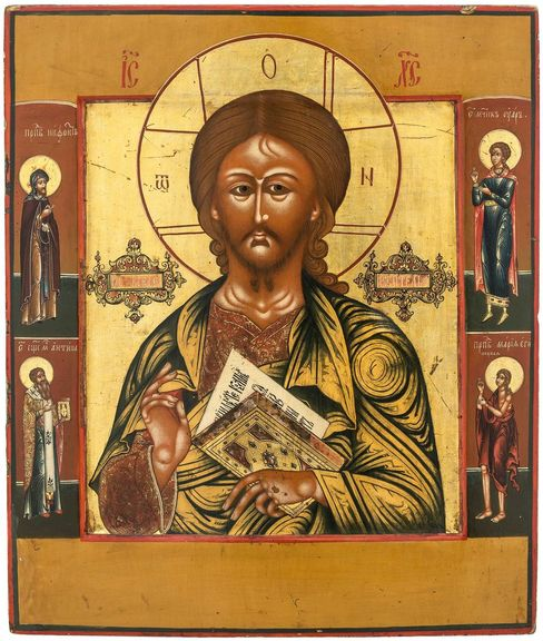 Christ Pantocrator icon. Russia, 1st part of the XIX century.