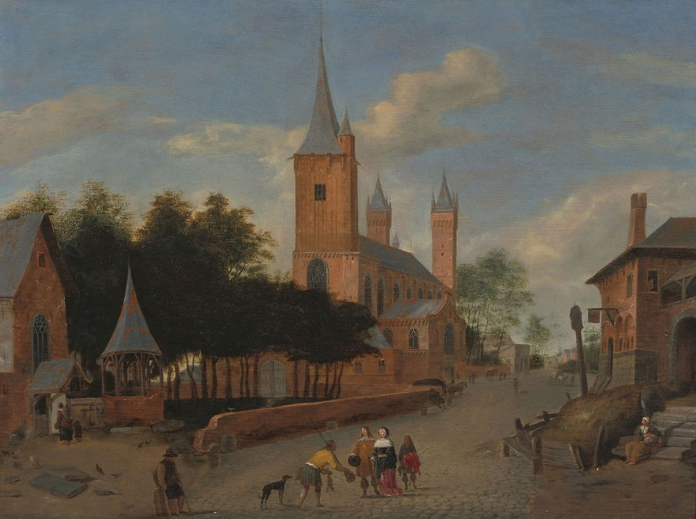 Jan van der Heyden. A view of the street from the Church of St. Severin, Cologne