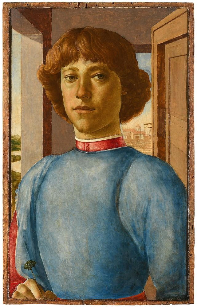Portrait of a young man in the style of Sandro Botticelli