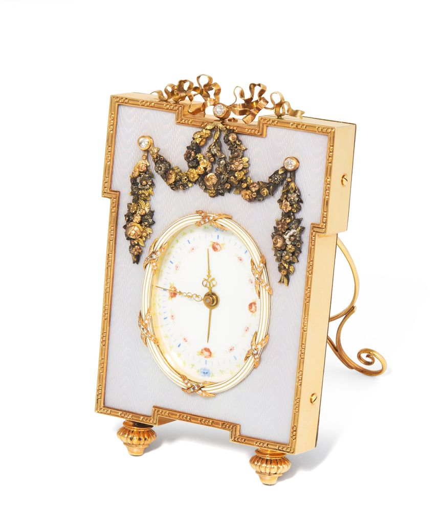 Table clock, after Faberge.