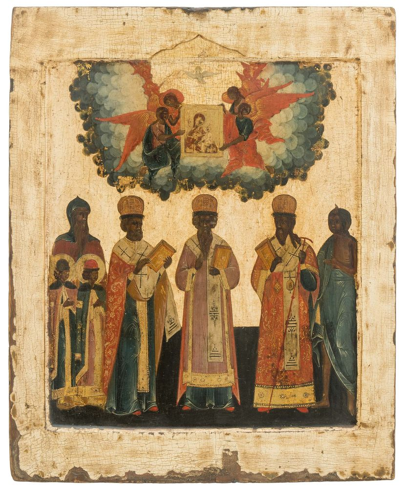 A Synaxis of Saint Hierarchs. Russia, ca. 1800.