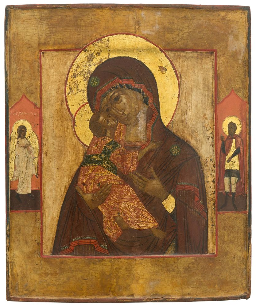 Our Lady of Vladimir. Russia, ca. 1800.