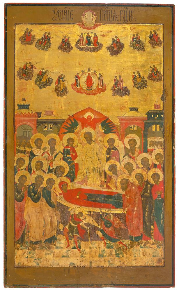 The Dormition of the Mother of God. Russia, ca. 1800.