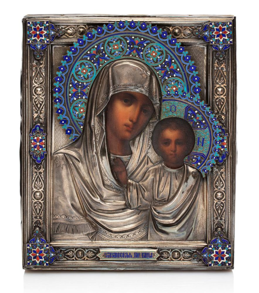 Icon of the Kazan Mother of God. Likely by workmaster Semen Galkin.