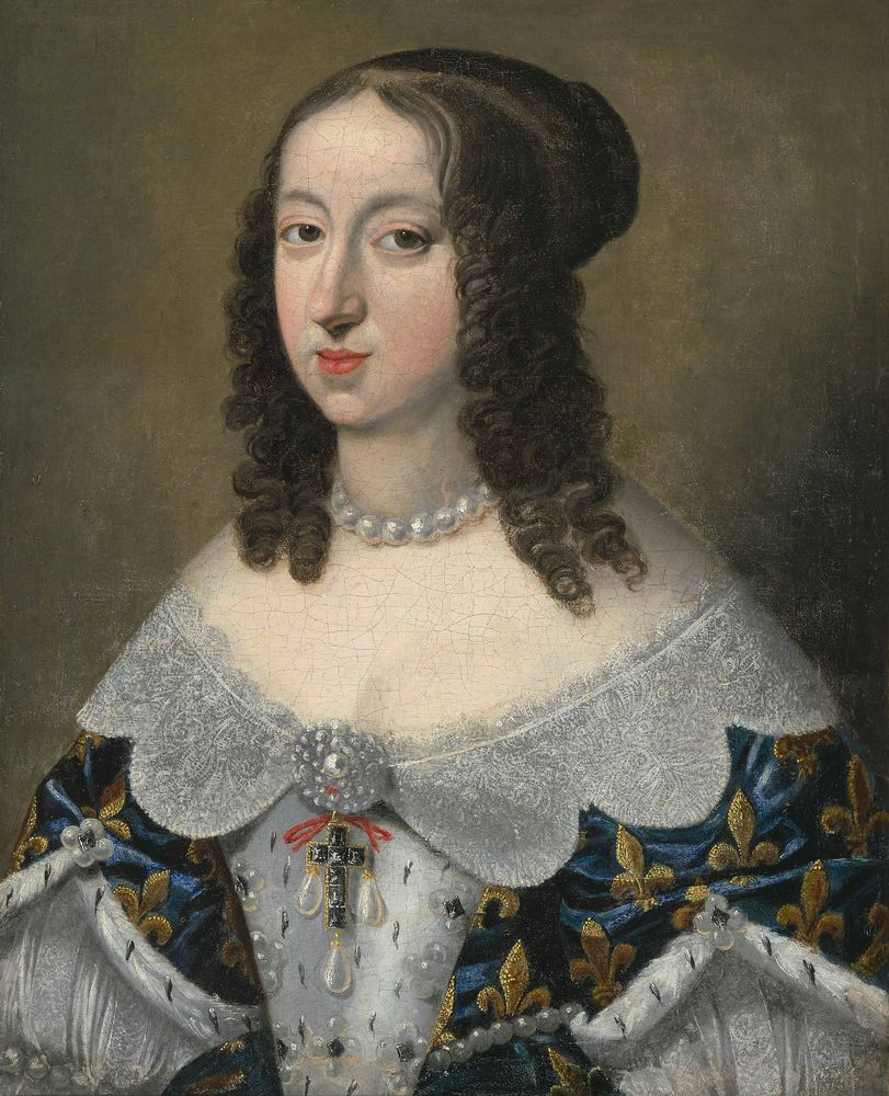 A portrait of, most likely, Anne d'Austriche (1601-1666).